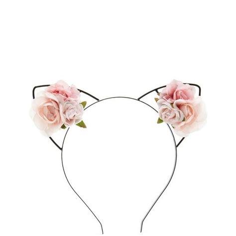 roses cat ear headband    polyvore