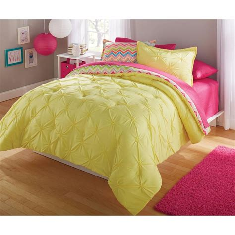 yellow bed comforter bright chevron ruched 2 3 pc yellow