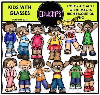 kids  glasses clip art bundle educlips clipart