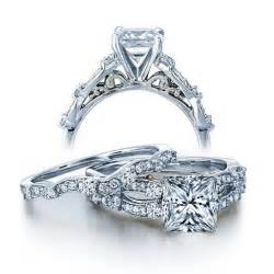 white gold wedding rings sets for him and certified 1 carat vintage princess wedding ring set for in white gold