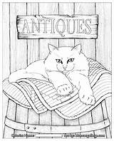 Coloring Pages Adult Cats Cat Books Quilt Printable Quilts Colouring Hamilton Jason Adults Sheets Dog Grown Bluecat Animal Quilting Ups sketch template