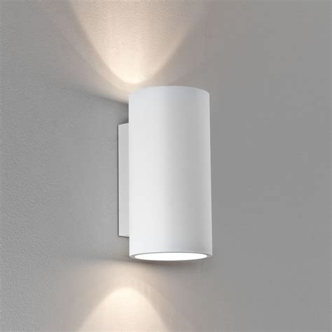 astro lighting 7002 bologna 240 white round plaster wall light