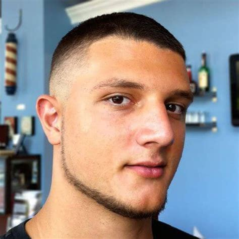 Best Chin Curtain Beard by Taper Fade Haircut For
