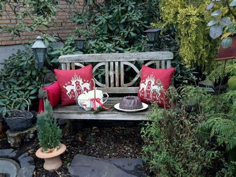 Blumenkübel Weihnachtlich Dekorieren by Gartenbank Weihnachtlich Dekoriert Betonkuchen