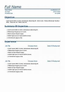 Download Resume Templates For Free Template