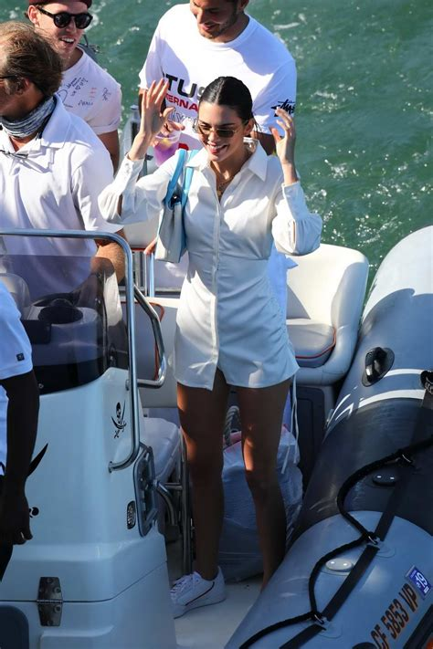 kendall jenner enjoys time in the ocean while onboard a ...