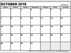 October 2018 Calendar With Holidays UK calendar yearly