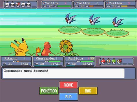 pokemon fan games pokemon fangame battle mockup by secondcrimson on deviantart