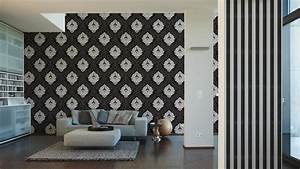 wallpaper bling bling baroque glitter black 3139 59 With markise balkon mit tapete mit punkten