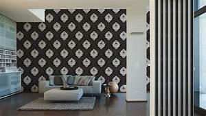 tapete bling bling barock glitzer schwarz weiss 3139 59 With balkon teppich mit tapete bling bling