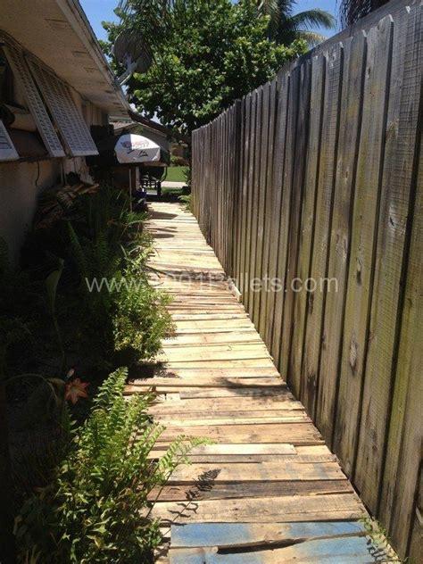 pallet walkways images  pinterest garden deco