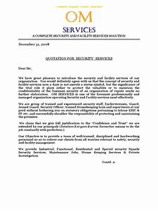 Letter For Recruitment Agency Om Services Quotation Doc Security Guard Human Resources