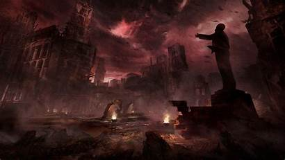 Secret Concept Apocalyptic Games Statue Wallpapers Backgrounds