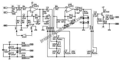 Electronics Technology Guitar Pre Amp Using