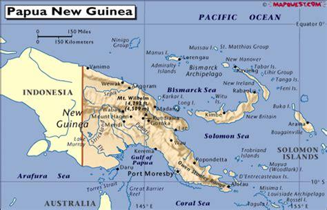 papua  guinea map australia