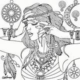 Coloring Printable Adult Adults Dreamcatcher Catcher Dream Gamera Colouring Mandala Recolor Sheets Fairy Witch Getdrawings Getcolorings Mandalas Anime Imprimir Sandbox sketch template