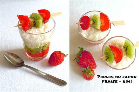 perles du japon aux kiwis et aux fraises la gourmandise