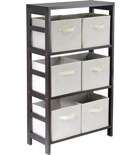 storage shelf with baskets 6 basket storage shelf in shelves with baskets