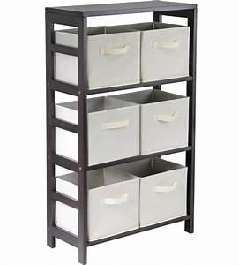 6, Basket, Storage, Shelf, In, Shelves, With, Baskets