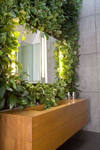 vertical garden  artificial plants  bathroom