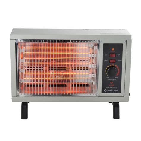 comfort zone heaters comfort zone radiant electric heater at menards 174