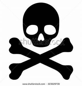 Crossbones Death Skull Danger Poison Flat Stock Vector ...