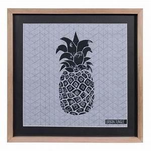 Ananas Maison Du Monde : tableau ananas en bois et verre 28 x 38 cm urban maisons du monde ananas ~ Teatrodelosmanantiales.com Idées de Décoration