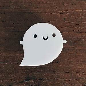 little ghost acrylic brooch by asking for trouble ...  Little