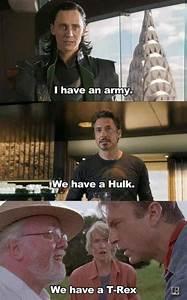 Funny Avengers Jurassic Park Meme-W630