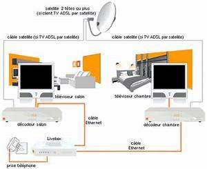 Television Par Satellite Sans Abonnement : tv d 39 orange par satellite sch mas de raccordement de ~ Edinachiropracticcenter.com Idées de Décoration