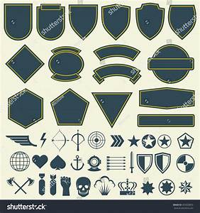 vector elements military army patches badges stock vector With military patch template