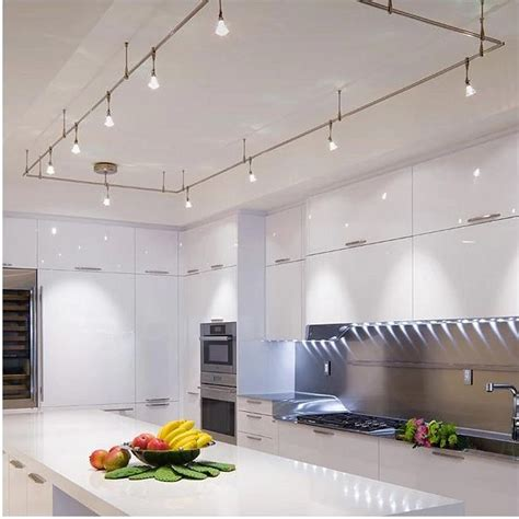 kitchen track lighting ideas    cooking