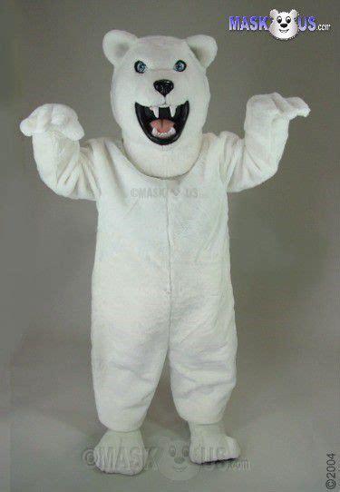 fierce polar bear deluxe adult size polar bear mascot