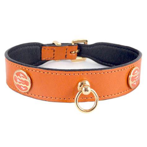 designer collars leashes st tropez italian leather collar tangerine designer