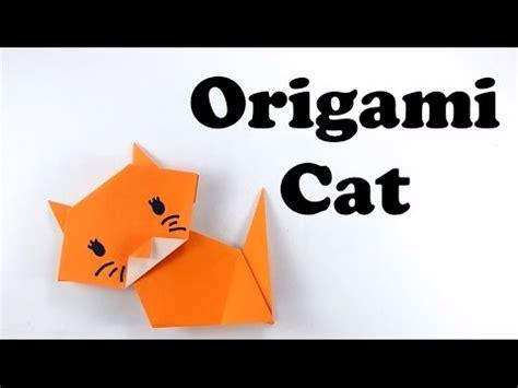 cute  easy origami cat tutorial  beginners