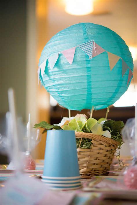 vintage hot air balloon  birthday party