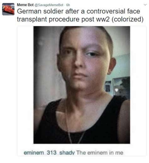 Controversial Memes - german soldier after a controversial face meme bot transplant procedure post ww2 colorized
