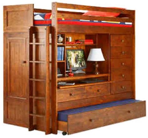 bunk bed with trundle and desk bunk bed all in 1 loft with trundle desk chest closet