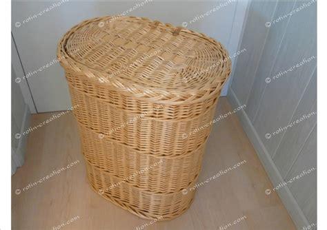 canapé destockage panier a linge ovale 2132 en osier panier à linge en