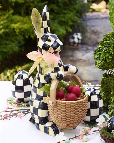 MacKenzie-Childs Courtly Check Rabbit Figure | Neiman Marcus