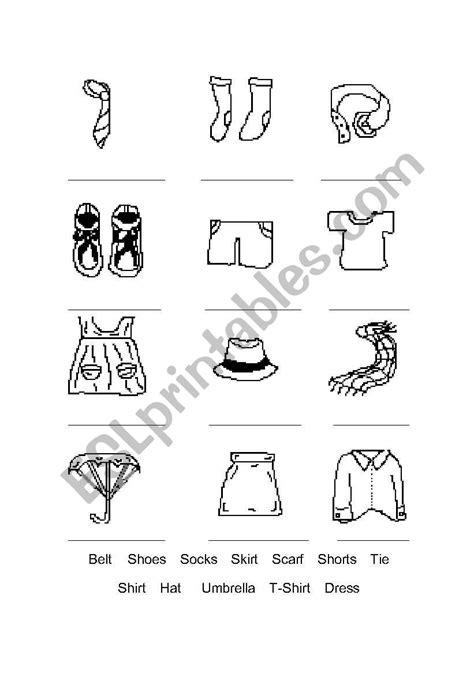 clothes fill   blank esl worksheet  capo