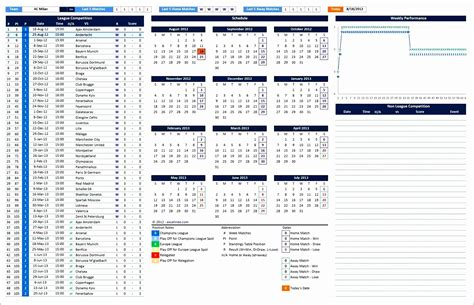 excel league table template excel templates excel