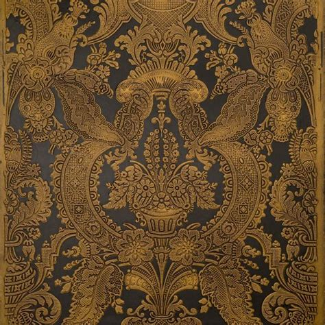embossed tooled damaskantique wallpaper bolling company