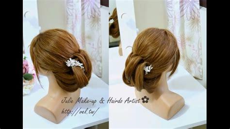 tuto coiffure chignon classique facile a realiser coiffure facile