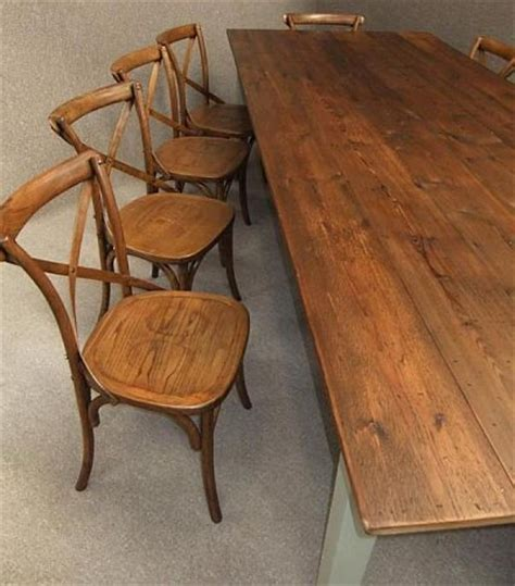 rustic farmhouse table and chairs reclaimed pine table with
