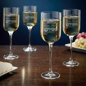 Rhone, Valley, Personalized, Long, Stem, Wine, Glasses, U2013, Set, Of, 4