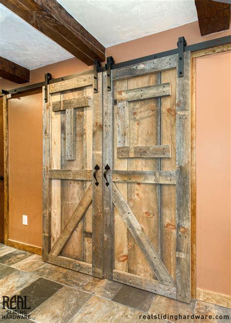 rustic barn doors barn style sliding door track rustic barn door hardware