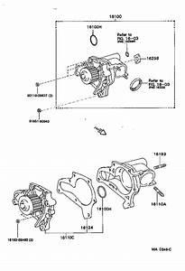Toyota Mr2 Engine Water Pump  Cooling  Make