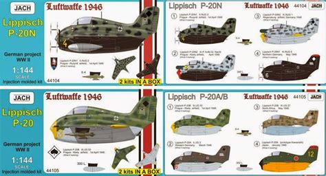 Kampfgruppe 1/144: 1/144 Lippisch P.20 Night Fighter (2 in ...