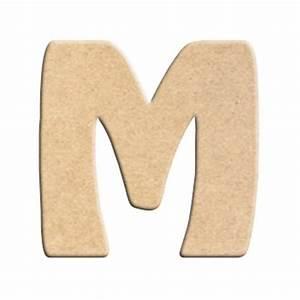 Lettre En Bois A Peindre : lettre m peindre d corer lettre en bois brut lettre ~ Dailycaller-alerts.com Idées de Décoration